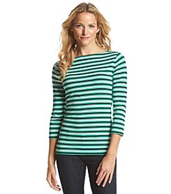 Jones New York Sport® Stripe Boatneck