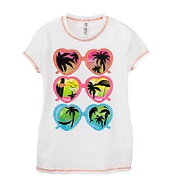 Beautees Girls' 7-16 Sparkle Sunglasses Tee