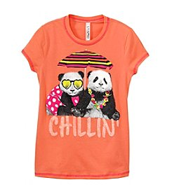 Beautees Girls' 7-16 Chillin' With Pandas Tee