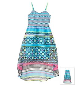 Jessica Simpson Girls' 7-16 Sierra Tile Maxi Dress