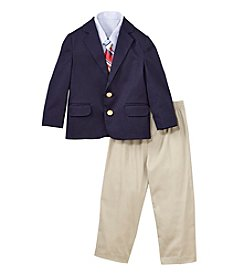 Izod® Boys' 2T-7 4-Piece Twill Duo Dress Outfit Set