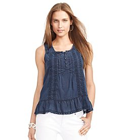 Lauren Jeans Co.® Henley Ruffled Shirt