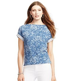 Lauren Jeans Co.® Short-Sleeve Printed Top