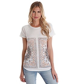 Lucky Brand® Mirrored Bandana Tee