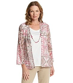 Alfred Dunner® Indian Summer Layered Look Knit Top