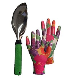 The Earthly Way, Inc. Garden Works Soil Scoop and Infusion Glove Set