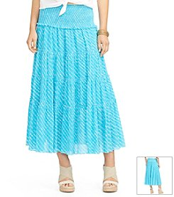 Lauren Ralph Lauren® Tiered Striped Skirt