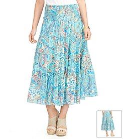 Lauren Ralph Lauren® Tiered Paisley Skirt