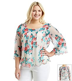 Jessica Simpson Plus Size Virginia Peasant Top