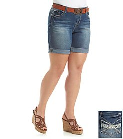 Wallflower® Plus Size Emerson Mid Thigh Belted Short