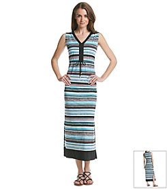 Jones New York Signature® Stripe Maxi Dress