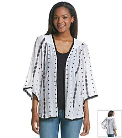Fever™ Lace Open Cardigan