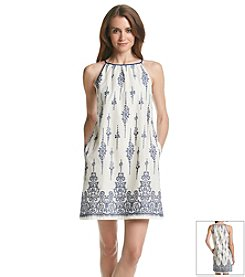 Taylor Dresses Embroidered Halter Dress