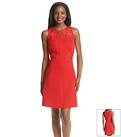Julia Jordan® Ottoman Fit And Flare Lace Dress