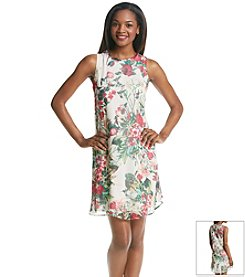 Taylor Dresses® Floral Chiffon