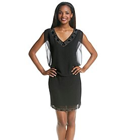 S.L. Fashions Blouson Beaded Dress