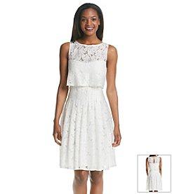 Sangria® Floral Lace Popover Dress