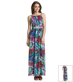 Sangria® Printed Chain Maxi Dress