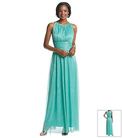 Jessica Howard® Metallic Halter Gown