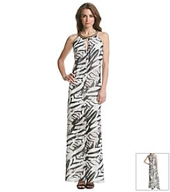Vince Camuto® Printed Trapeze Maxi Dress