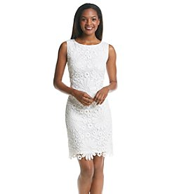 Chetta B. Crochet Sheath Dress