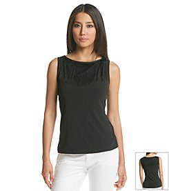 Calvin Klein Performance Fringe Collar Top