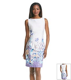 Chetta B. Floral Sheath Dress