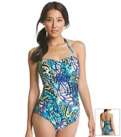 Jantzen® Butterfly Print 1 Piece Swimsuit