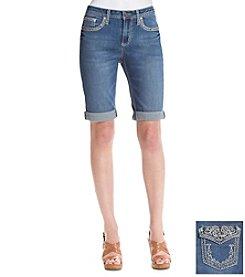 Earl Jean® Scroll Bling Pocket Bermuda