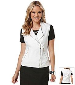 Rafaella® Double Weave Moto Vest