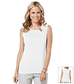 Rafaella® Sleeveless Knit Top