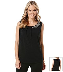 Rafaella® Embellished Sleeveless Top