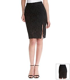 ruff hewn GREY Lace Pencil Skirt