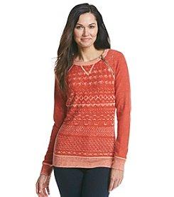 Ruff Hewn Petites' Reverse Print Sweater