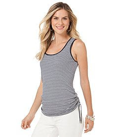 Chaps® Striped Cotton Tank