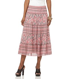 Chaps® Tiered Voile Maxi Skirt