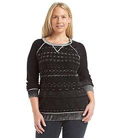 Ruff Hewn Plus Size Reverse Print Sweater