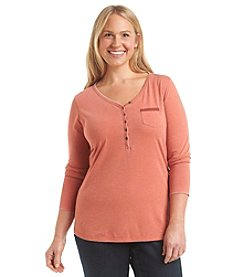 Ruff Hewn Plus Size Burnout Henley