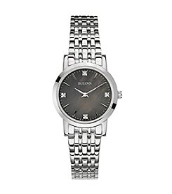 Bulova® Mother Of Pearl Dial Diamond Accent Watch