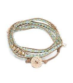Lonna & Lilly Goldtone Small Beaded Wrap Bracelet