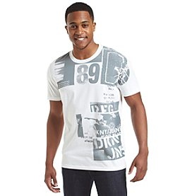 DKNY JEANS® Men's Short Sleeve Rock Collage Crewneck Tee