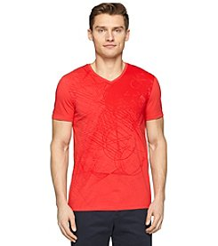 Calvin Klein Men's Short Sleeve V-Neck Graphic Tee