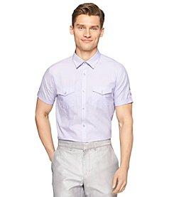 Calvin Klein Men's Short Sleeve Twill Button Down