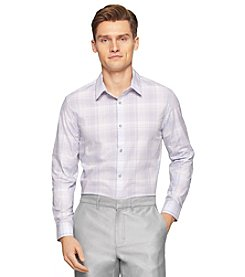 Calvin Klein Men's Long Sleeve Cool Tech Plaid Shirt