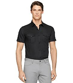 Calvin Klein Men's Short Sleeve Roll Tab Shirt