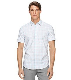 Calvin Klein Men's Short Sleeve Checkerboard Dobby Shirt