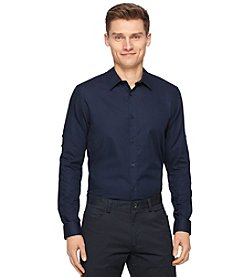 Calvin Klein Men's Long Sleeve Dobby Shirt