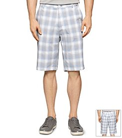 Calvin Klein Men's Shadow Plaid Flat Front Shorts