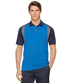 Calvin Klein Men's Short Sleeve Raglan Colorblock Polo