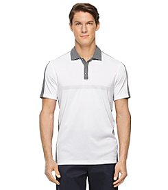 Calvin Klein Men's Short Sleeve Mixed Media Polo